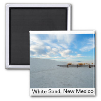 White Sand Monument, New Mexico 2 Inch Square Magnet