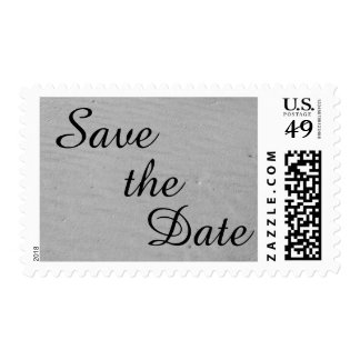 White Sand Save The Date Postage