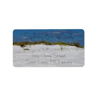 White Sands and Blue Skies Label