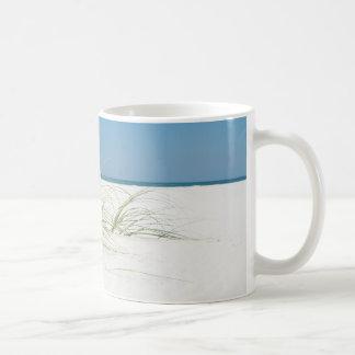 White sands and sea oats classic white coffee mug
