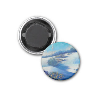 White Sands Bouquet-by Kathy Morrow 1 Inch Round Magnet