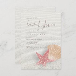 White Sands Bridal Shower Coral/Peach ID605 Invitation