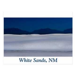 White Sands Dune at Night Postcard