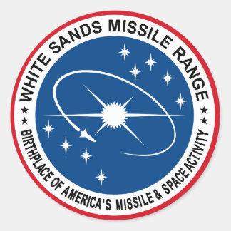 White Sands Missile Range Classic Round Sticker