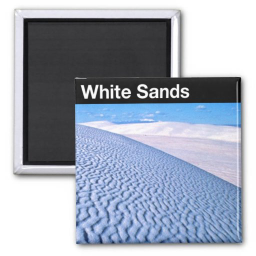 White Sands National Monument 2 Inch Square Magnet