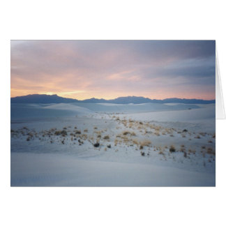 White Sands National Monument - Sunset Card