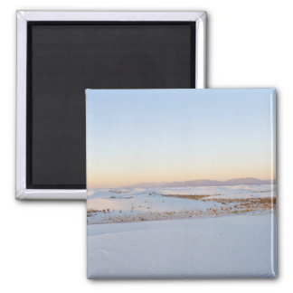 White Sands National Monument, Transverse Dunes 2 2 Inch Square Magnet