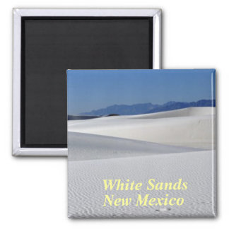 White Sands New Mexico 2 Inch Square Magnet