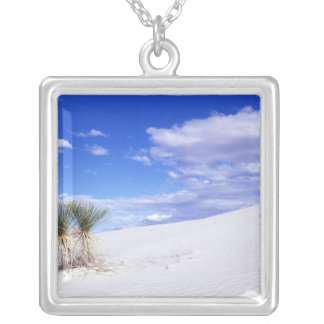 White Sands NM, New Mexico, USA Silver Plated Necklace