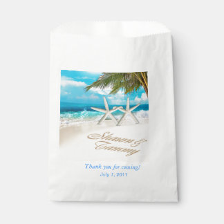 Wedding Favor Bags Beach : White Sands Starfish Beach Wedding Favor Bag