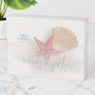 White Sands Starfish Cards & Gifts Coral ID605 Wooden Box Sign