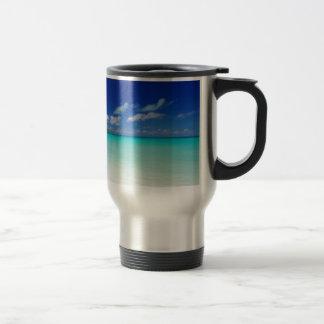 White Sandy Beach and Miyako Island Okinawa Coffee Mug