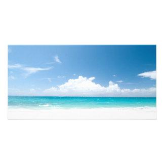 White Sandy Beach and Okinawa Japan Photo Card