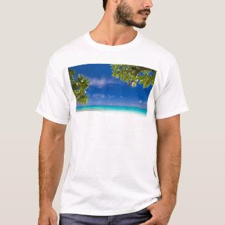 White sandy beach and Okinawa T-Shirt