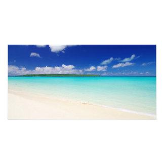 White Sandy Beach In Miyako Island Photo Card