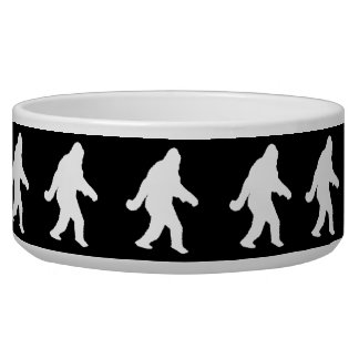 White Sasquatch Silhouette For Dark Backgrounds Bowl