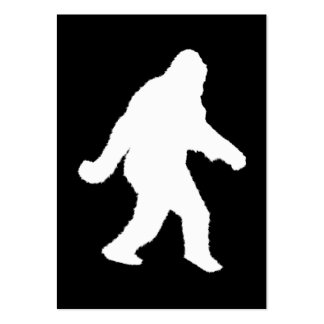 White Sasquatch Silhouette For Dark Backgrounds Large Business Cards (Pack Of 100)