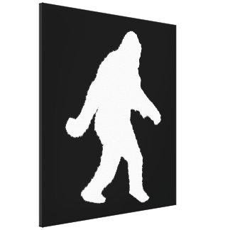White Sasquatch Silhouette For Dark Backgrounds Canvas Prints