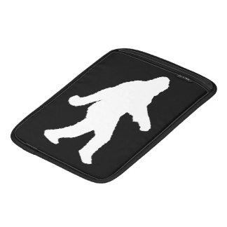 White Sasquatch Silhouette For Dark Backgrounds iPad Sleeve