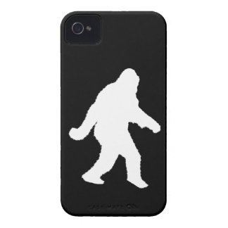 White Sasquatch Silhouette For Dark Backgrounds iPhone 4 Case