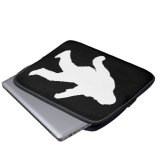 White Sasquatch Silhouette For Dark Backgrounds Laptop Computer Sleeves