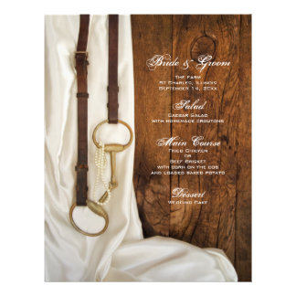 White Satin and Horse Bit Country Wedding Menu