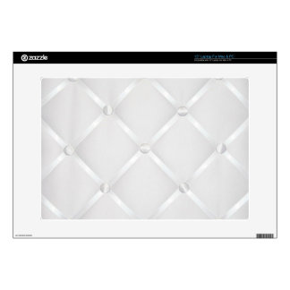 """White Satin Fabric 15"""" Laptop For Mac & PC 15"""" Laptop Decals"""
