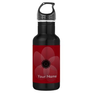White Satin Flower Party Holiday 18oz Water Bottle