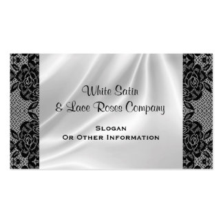 White Satin & Lace Business Cards