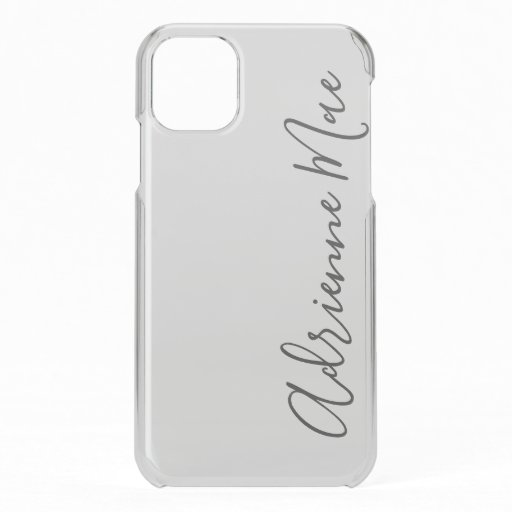 White Satin Mist Personalized iPhone 11 Case