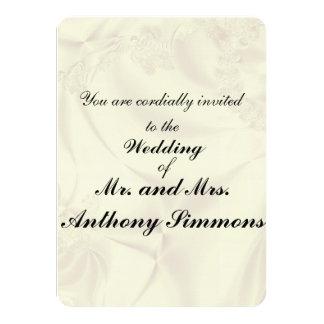 White Satin Sheet Wedding Invitations