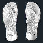 """White Satin & Silver Ornate Design 