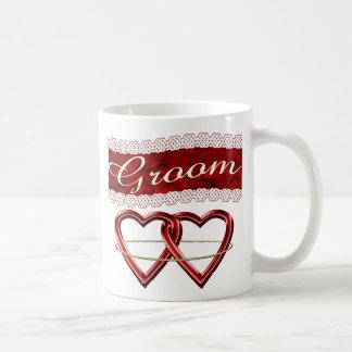 White Satin Wedding Set Mug
