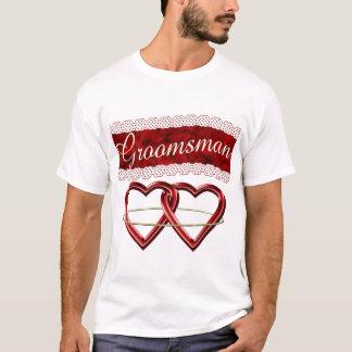 White Satin Wedding Set T-Shirt
