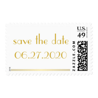 White Save The Date Great Gatsby Wedding Stamps