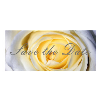 White Save the Date Rack Card
