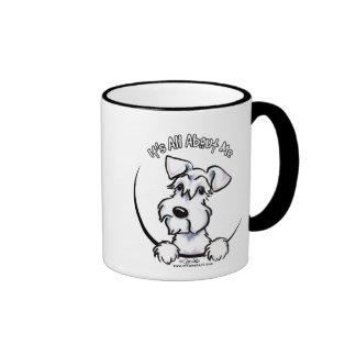 White Schnauzer IAAM Ringer Coffee Mug