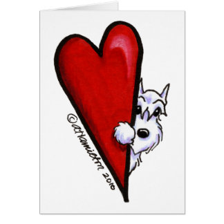 White Schnauzer Love Card