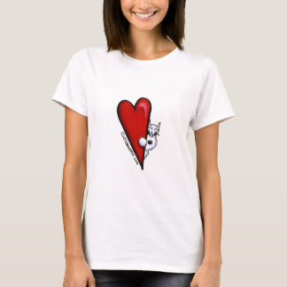 White Schnauzer Love T-Shirt