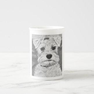 White Schnauzer Porcelain Mug
