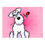 White Schnauzer Sweetheart Off-Leash Art™ Postcard