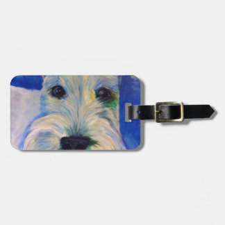 White Schnauzer's RULE ! Luggage Tag