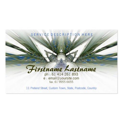 White SCiFi Business card