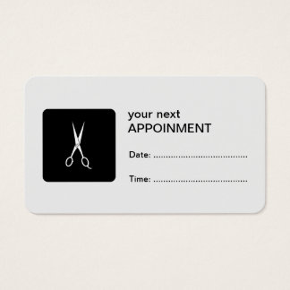 White Scissors Appointment Card
