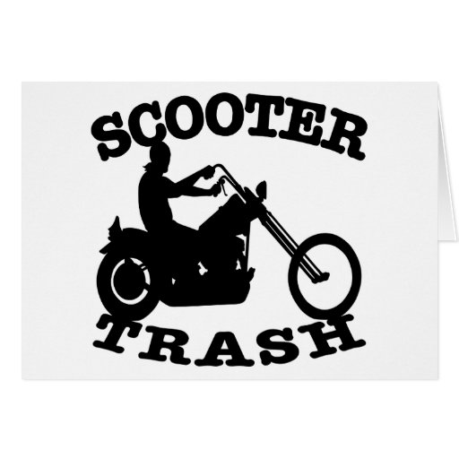 White Scooter Trash Card