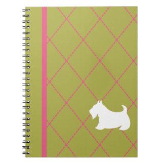White Scottie Notebook
