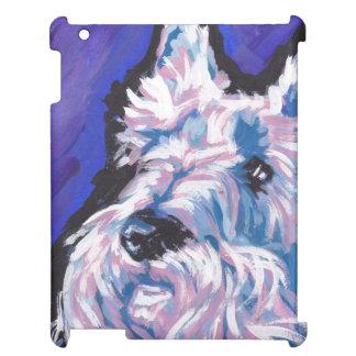White Scottish Terrier Scottie Pop Art iPad Case