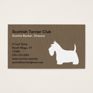 White Scottish Terrier Silhouette Business Card