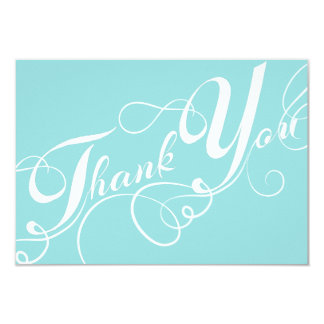 White Script on Limpet Shell Wedding Thank You Card