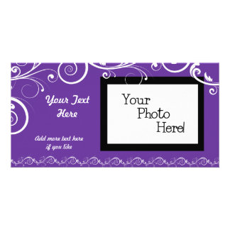 White Scrolled Flourishes Customized Card